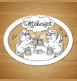 oktoberfest card bears in friendly conversation vector image vector image