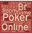 online poker reviews 1 text background wordcloud vector image vector image