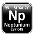 Periodic table element neptunium icon vector image vector image