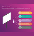presentation board for presenting infographic vector image vector image
