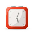 red analog clock icon vector image
