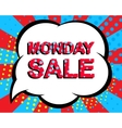 Sale poster with MONDAY SALE text Advertising vector image vector image