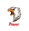 Screaming eagle head symbol for tattoo design