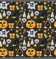 seamless pattern with halloween elements vector image
