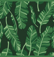 seamless pattern with palm leaves graphic vector image vector image