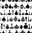 seamless texture with row of variety ethnic vases vector image vector image