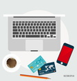 Shopping payment concept Collection of shopping vector image