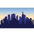 silhouette of mexico city vector image vector image