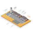 small air transport isometric composition vector image