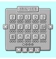 Stone game menu level interface ui panels vector image