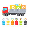 truck loaded with containers vector image