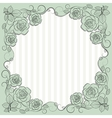 Vintage paper frame with floral pattern for use in vector image vector image