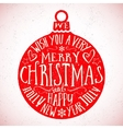 Vintage Typography Christmas Card vector image vector image