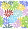 white seamless grunge floral pattern vector image