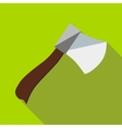Wooden axe icon flat style vector image vector image