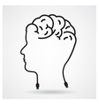Creative head brain idea concept vector image