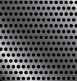 Steel background with seamless circle perforated vector image