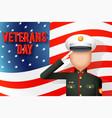 veterans day american military ceremonial dress vector image