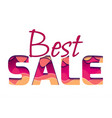 3d inscription of the best sale made of layers of vector image