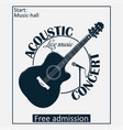 acoustic musical concert poster vector image vector image