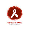 aids awareness ribbon sign or icon - red vector image vector image