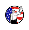 american border patrol officer wearing face mask vector image vector image