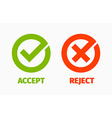 Approved and Rejected Marks vector image vector image