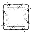 Barbed Wire Silhouette4 vector image vector image