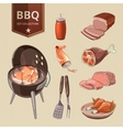 BBQ meat elements for vintage Barbecue vector image