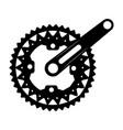 bicycle gear icon vector image vector image
