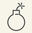 bomb line icon ball isolated vector image