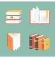 book icons and symbols - education concepts vector image