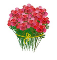 Bouquet of roses and a white background Huge vector image