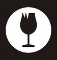 broken cup glass - cargo icon vector image vector image