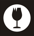 broken cup glass - cargo icon vector image