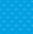 bungalow pattern seamless blue vector image vector image