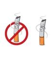Cartoon happy cigarette butt vector image vector image