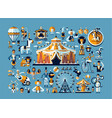 Circus Colored icons collection vector image vector image