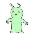 comic cartoon happy little alien vector image vector image