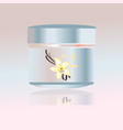 cosmetic elegant container with cream healty with vector image vector image