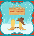 Cowboy Christmas card with western boots and hat vector image vector image