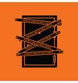 Crime scene door icon vector image
