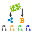 cryptocurrency cashflow icon vector image vector image
