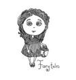 cute hand drawn fairy tales princess vector image