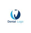 dental care logo and symbol vector image