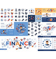 digital financial trading simple icons vector image