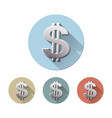 dollar symbol with two vertical lines vector image vector image