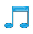 drawing note music sound melody icon vector image vector image