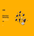 election security protection on polling place vector image
