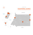 equatorial guinea map with administrative vector image vector image